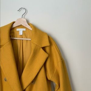 H&M Yellow Double-Breasted Winter Coat